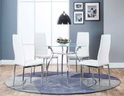 glass and chrome finish 5 pc dinette