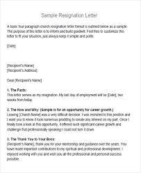 Resignation Letter Church Position 65 Sample Resignation Letters