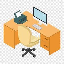 computer desk clipart. Plain Computer Computer Desk Workplace Isometric 3d On Transparent Background Stock Vector   51730570 In Desk Clipart
