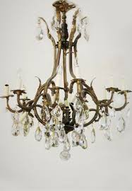 rare large french antique crystal chandelier 4950 00