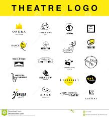 Theatre Company Logo Design Vector Theatre And Ballet Perfomance Logo Template Design