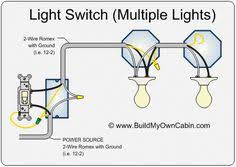 wiring diagram for multiple lights on one switch power coming in how to wire a 2 way light switch at Household Wiring Light Switches