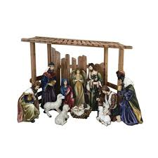 Outdoor Nativity Set with Creche (12-Piece) 56 in. (12-Piece)-97000 - The Home
