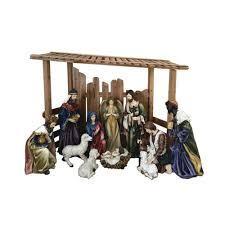 outdoor nativity set with creche 12 piece