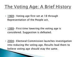 should the voting age be lowered to essay  should the voting age be lowered to 16 essay