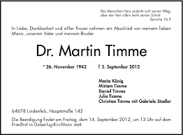 Martin Timme Todesanzeigen Bergsträßer Anzeiger Trauerportal