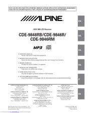 alpine cde 9846r manuals alpine cde 9846r owner s manual