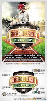Free Baseball Flyer Template Baseball League Flyer Template Free Download Vector Stock