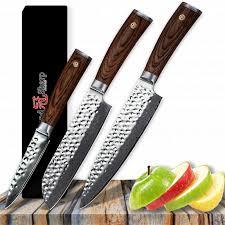 Acheter Grandsharp Couteau De Cuisine Set Chef Santoku Couteaux De