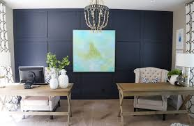 blue office walls. office with hale navy blue walls and wood desk white green accents m