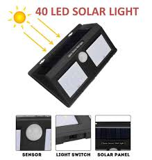 Solar Sensor Light Big W Bentag 6 5w 40led Large Waterproof Motion Sensor Outdoor Solar Panel Light Pack Of 1