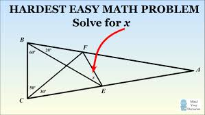 what is a brain teaser that is very short and extremely hard for  answer to the hardest easy geometry problem