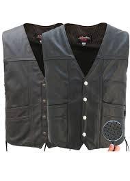 full perforated cruiser biker vest