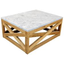 marble wood coffee table marble and wood coffee table by michelangeli italy for at
