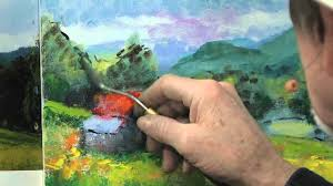 how to use a palette knife in oil painting