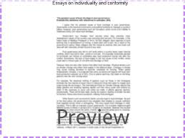 essays on individuality and conformity coursework service essays on individuality and conformity conformity vs individuality essays conformity vs individuality papers