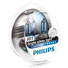 Галогенная <b>лампа PHILIPS CRYSTAL</b> VISION H11 12V 55W 4300К ...