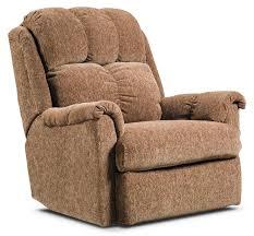 brown chenille power reclining chair