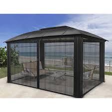 Custom pool enclosure hexagon shape Covers Siena Aluminum Gazebo Mma Mania Outdoor Structures Costco