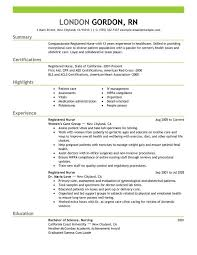 Resume For Nurses Free Sample Resume For Nurses Free Sample And