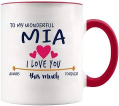 Explore our menu of delicious & authentic cuban cuisine. Amazon Com Valentines Day Coffee Mug With Name Mia To My Wonderful Mia I Love You This Much Always Forever Gift Ideas For Anniversary Wedding Birthday White Mug With Red