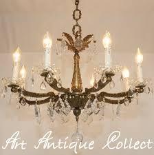 Lampe Decken Lüster Kristall Messing Kronleuchter Stil