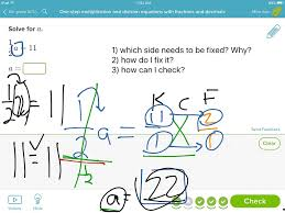 showme one step equations with decimals