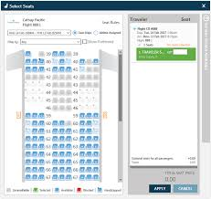 Cathay Pacific Flight 888 Seating Chart Travelport Merchandising Suite Introducing Ancillary