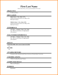 Job Resume Examples For Highschool Students Samples High School