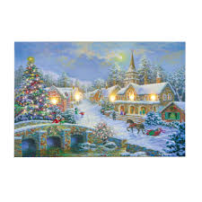 Lighted Christmas Artwork Amazon Com Collections Etc Heaven And Earth Village Lighted