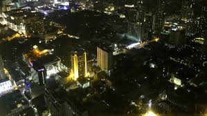 night city top view bangkok time lapse hd stock footage clip