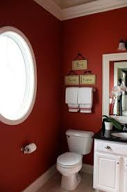 Perfect Red Bathroom Color Ideas Current Master Bath And White Intended Design
