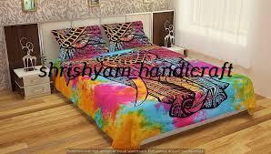 details about mandala comforter bedding cover colorful elephant boho india duvet covers set