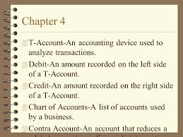 t account in accounting chapter 4 t account an accounting device used to analyze