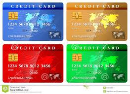 Debit Card Designs 4 Color Credit Or Debit Card Design Template Stock Vector