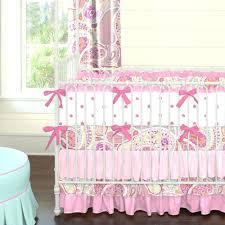 decoration pink paisley nursery bedding home crib hot 2 piece set