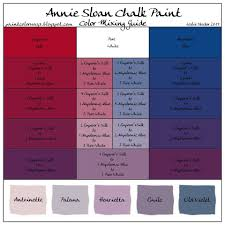 Annie Sloan Chalk Paint Mixing Chart Annie Sloan Chalk Paint Color Mixing Guide I Need This