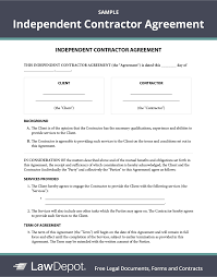 Need to prepare an independent contractor contract? Free Independent Contractor Agreement Create Download And Print Lawdepot Us