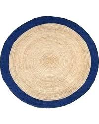 8 round jute rugs rug handmade with blue border 8 round jute rugs