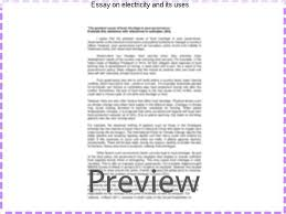 essay on electricity and its uses custom paper help essay on electricity and its uses