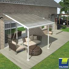 palram feria 3 veranda patio cover in white 3 x 3 05m