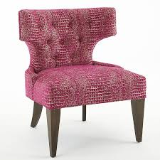hot pink accent chair  home chair decoration