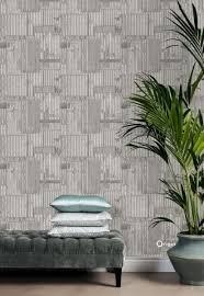 wallpaper industrial metal corrugated sheets light gray