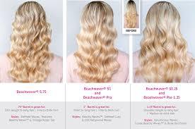 barrel size different curls achievable with each barrel size the beachwaver co