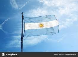 ธงแห่งอาร์เจนติน่าบนเสากระโดง — ภาพถ่ายสต็อก © CreativePhotoCorner  #160857164