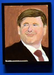 a portrait of canadian prime minister stephen harper is part of the exhibit the art