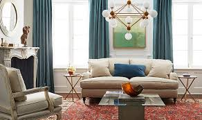 create interest and unique style by mixing modern lighting tables and accents with more traditional furnishings