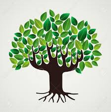 Tree Design Green Leaf Strong Trunk Tree Design File Layered For Easy