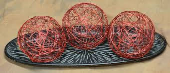 Decorative Sphere Balls Decorative Wire Balls 100 inch Red Spheres 35