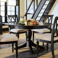 kitchen black narrow round kitchen table with 4 padded chairs round pedestal kitchen table